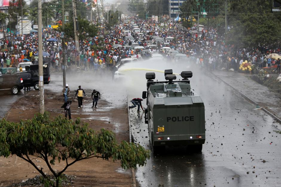 Two killed as Kenyan police fire at opposition supporters in Nairobi