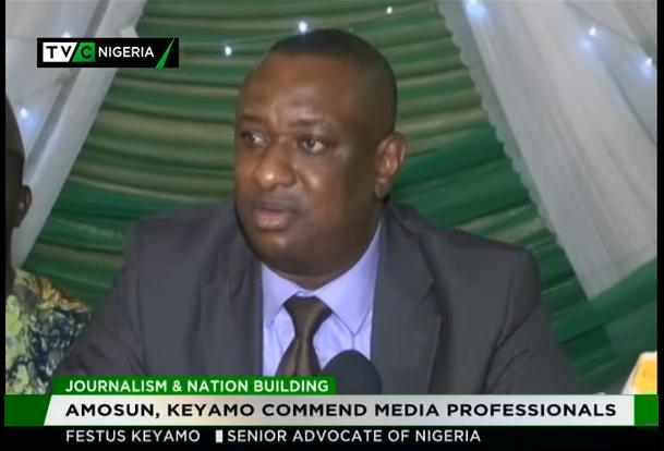 Amosun, Keyamo commend media professionals