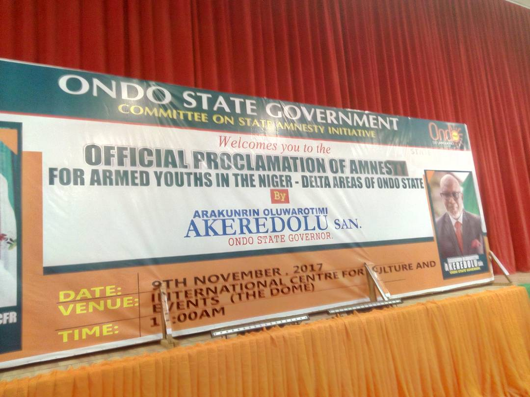 Ondo gives militants 21-days to embrace amnesty