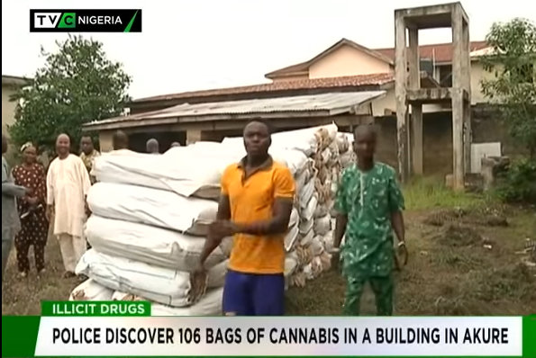 Police discover 106 bags of Cannabis in abandoned building