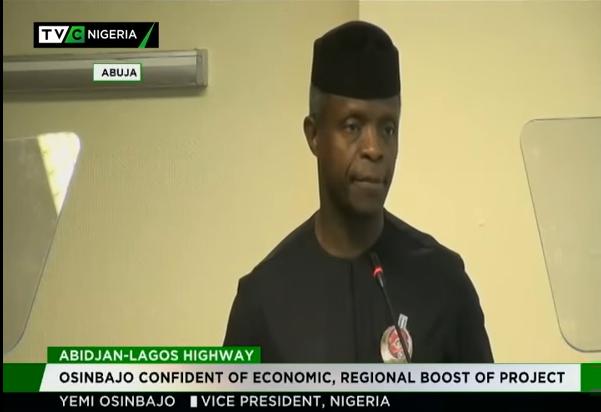 Osinbajo confident of economic, regional boost of Abidjan-Lagos highway