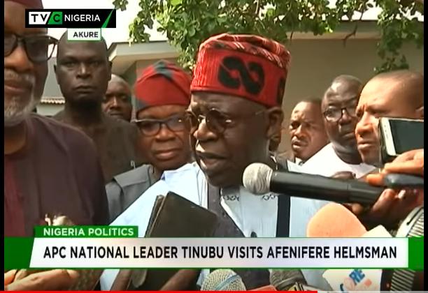 Tinubu visits Afenifere helmsman in Akure