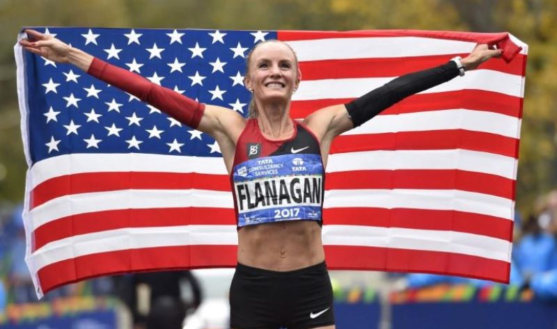 Flanagan became first woman to win in New York City marathon