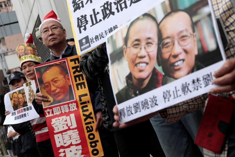 Protesters urge govt to free wife of Chinese Nobel Laureate