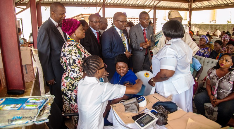 Rotary club of Gbagada distributes gifts to patients, staff