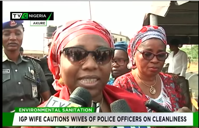 IGP wife cautions wives of Police officers on cleanliness