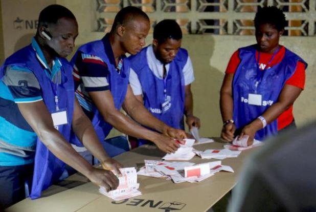 Vote counting underway in Liberia run-off election