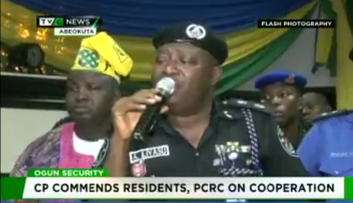 Mutual relationship: Ogun CP commends residents, PCRC