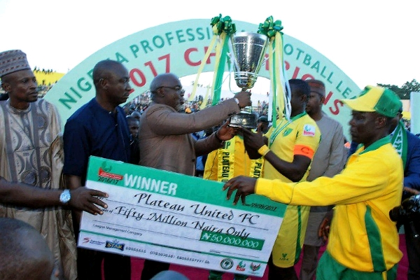 Plateau United vow to win title after govt reward