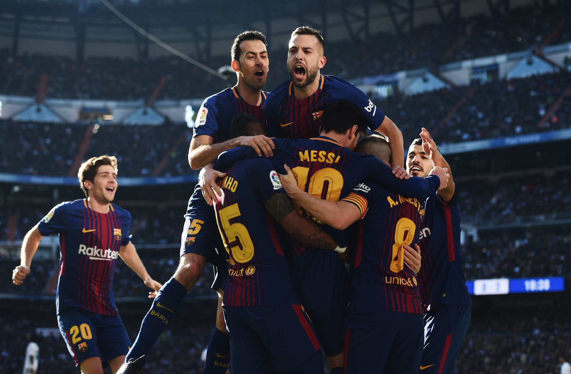 #ElClasico : Barca beat Madrid 3-0, race 14 points clear