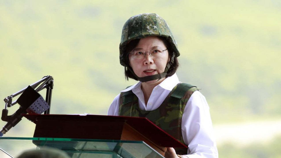 Taiwan president accuses China's military of causing regional instability
