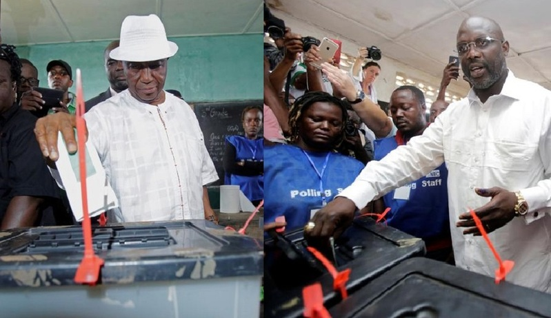 Voting ends in contentious Liberia presidential run-off election
