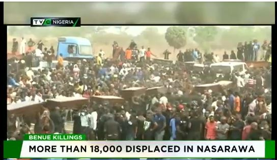 Benue killings: State buries 73 Killed By Fulani Herdsmen, over 18,000 displaced – Govt