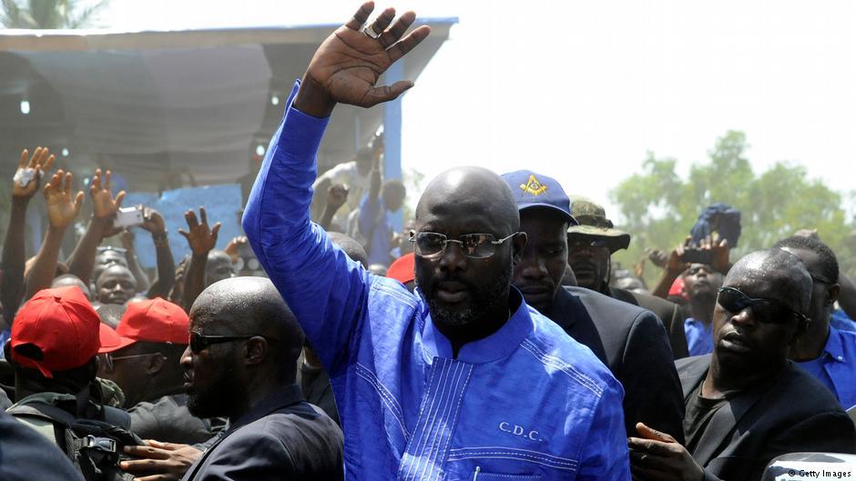 George Weah sworn in as Liberian president
