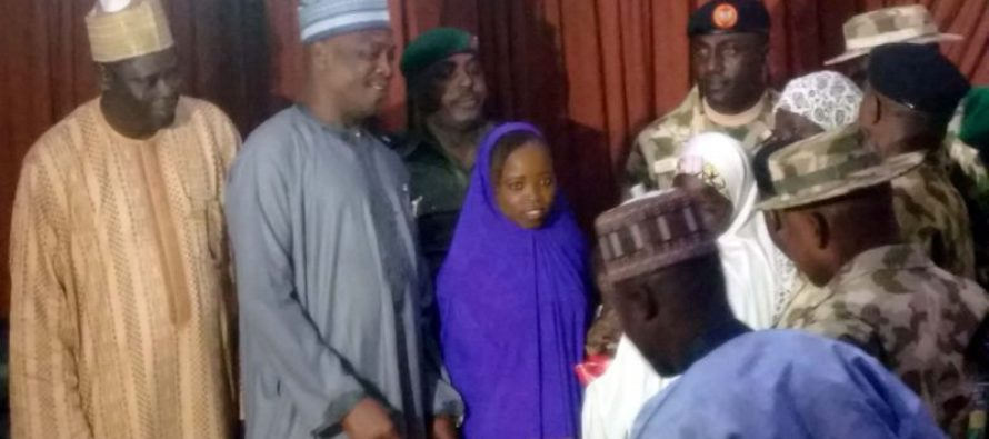 Military hands over rescued girls to Borno governor