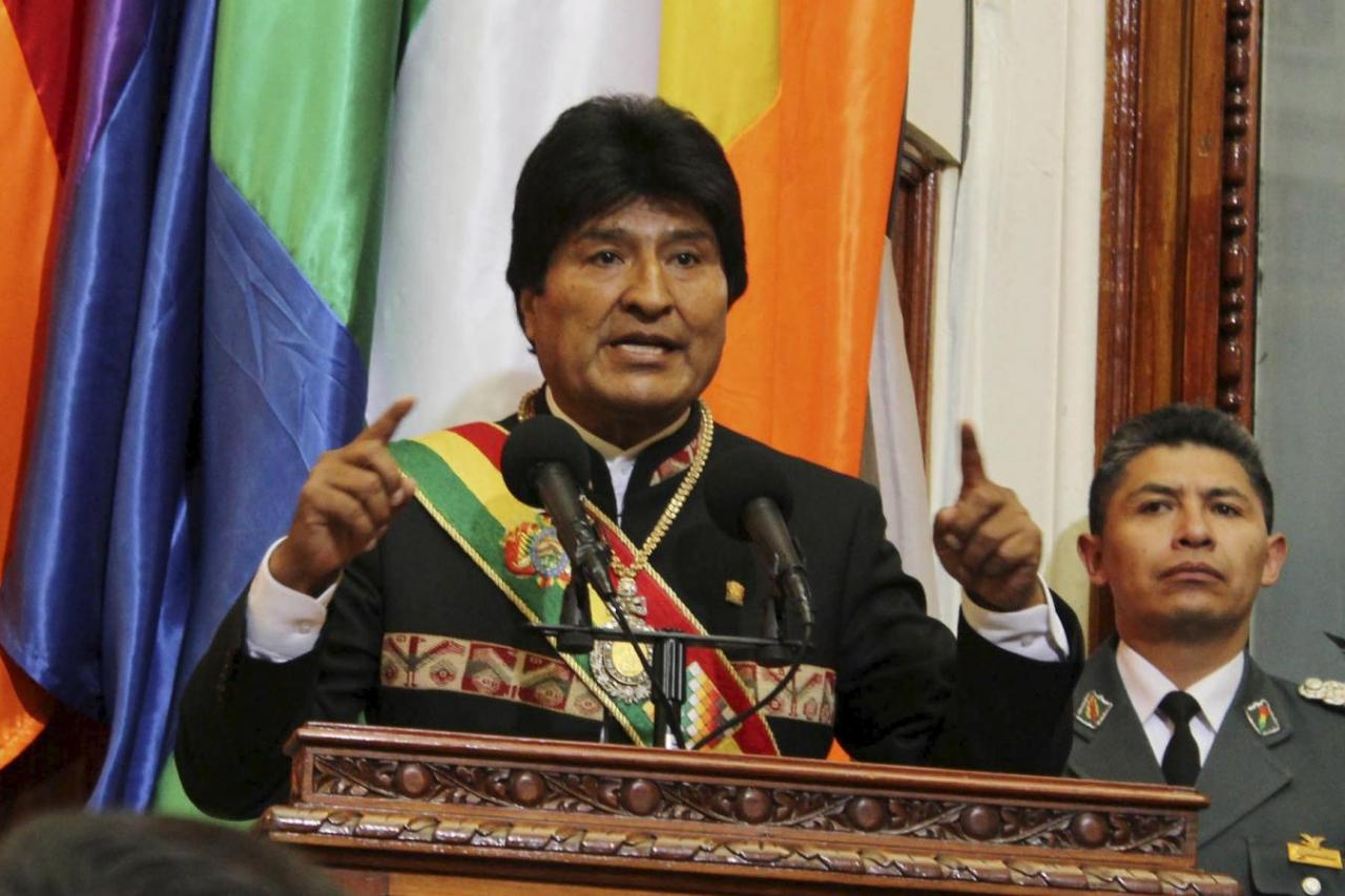 President Morales marks 12 years in office