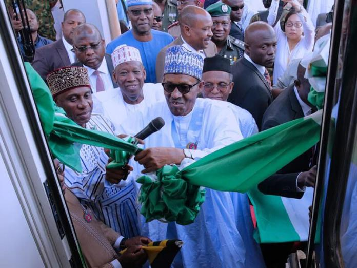 President Buhari inaugurates first dry port, rail coaches in Kaduna
