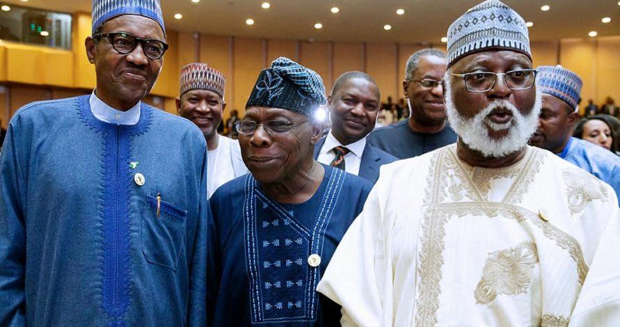 AU Summit : Buhari, Obasanjo meet in Addis Ababa