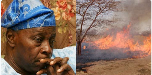 Again, herdsmen set Olu Falae farm on fire