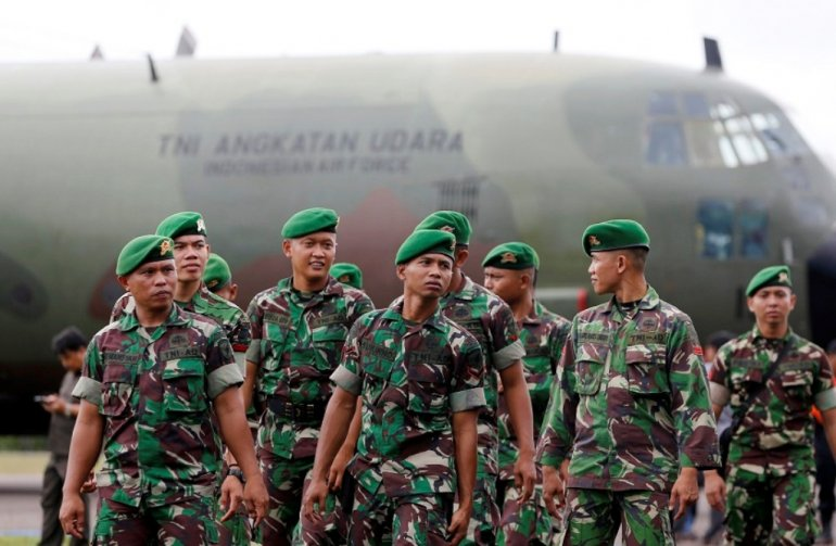 Indonesia sends military to help fight health crisis in Papua