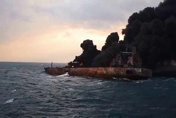 Iranian Oil tanker burns, sinks in Japanese waters