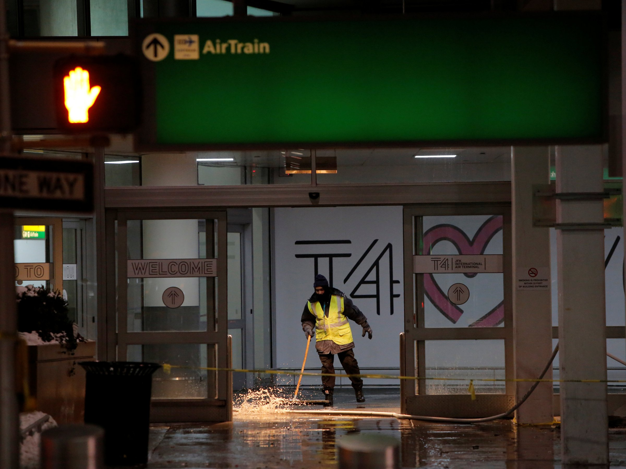 Chaos at JFK airport with flood, storm backlog