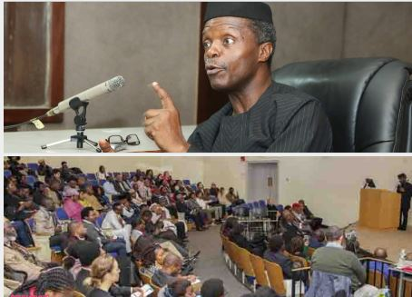 Osinbanjo lectures student on 'Africa Rising' at Harvard University US