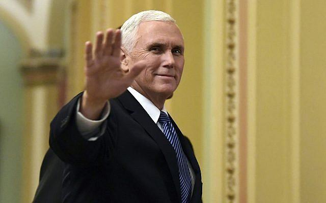 US VP Pence visits Western Hall, to meet Israeli leaders