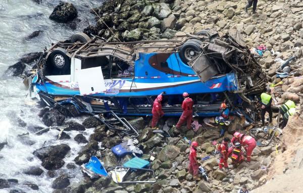 Peruvian bus crash death toll rises to 48