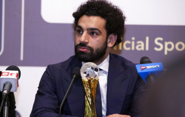 Mohamed Salah receives African Footballer of the Year trophy