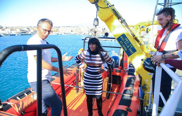 Nollywood Stephanie Linus gives hope to trafficked victims in Italy