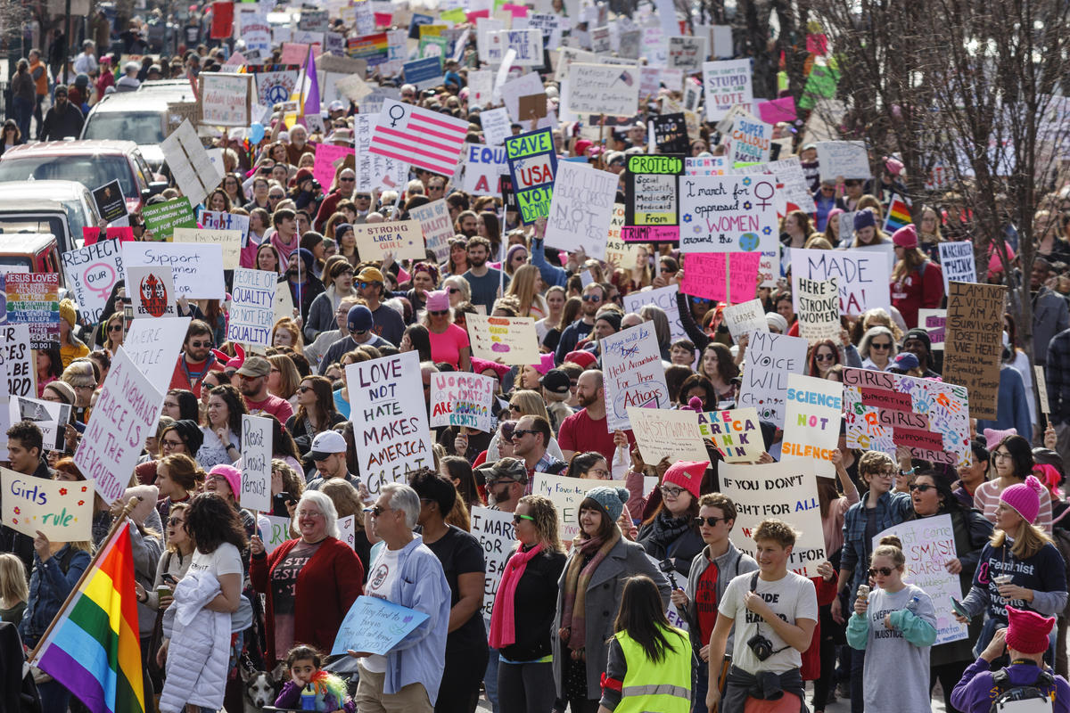 Women's marches draw massive crowds in multiple cities