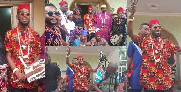 Imo: D'Banj receives a Chieftaincy title