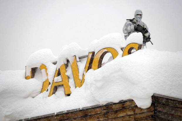 Davos summit delegates hope for positive message from Trump