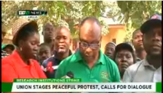 Research Institute Strike: Workers protest FG's failures
