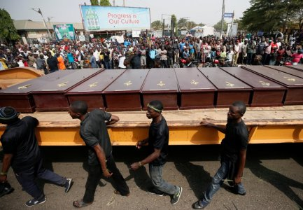 Benue killings: Mukurdi residents mourn as victims were given mass burial