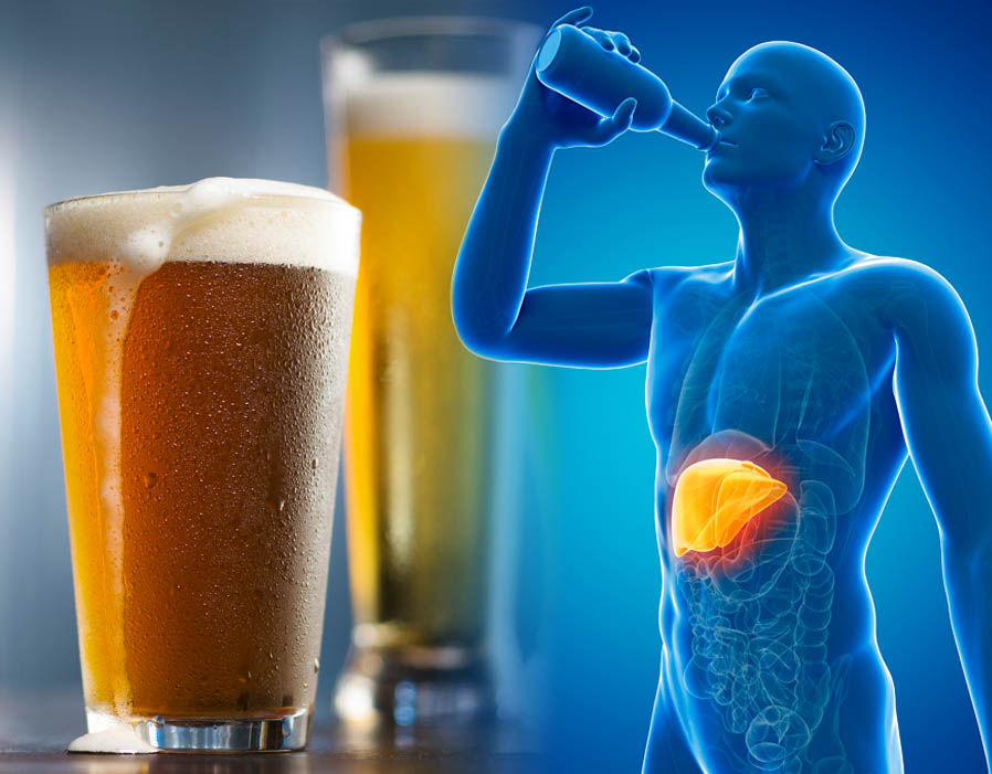 Excessive intake of alcohol increases the risk of Liver diseases in men