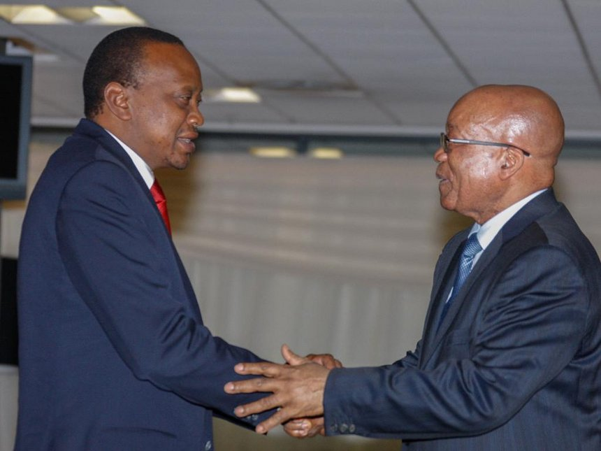 Kenya's President congratulates Zuma for resigning