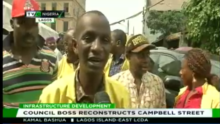 Lagos Island-East Council boss reconstructs Campbell street