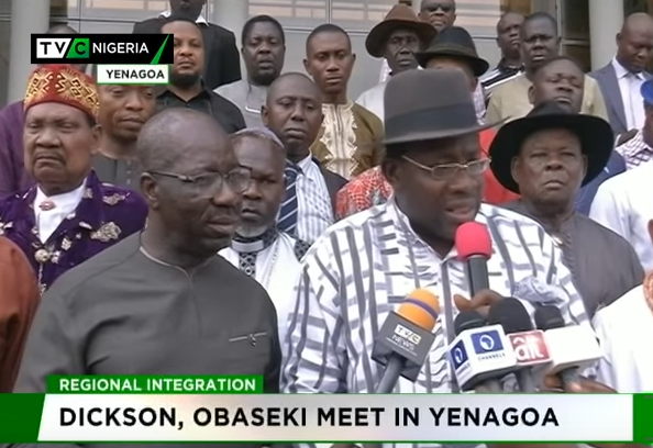 Dickson, Obaseki meet in Yenagoa to discuss regional Integration