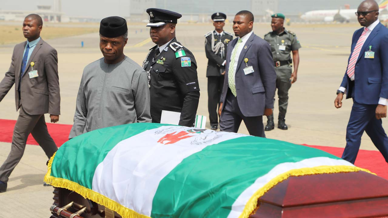 Alex Ekwueme buried in Oko, Anambra State
