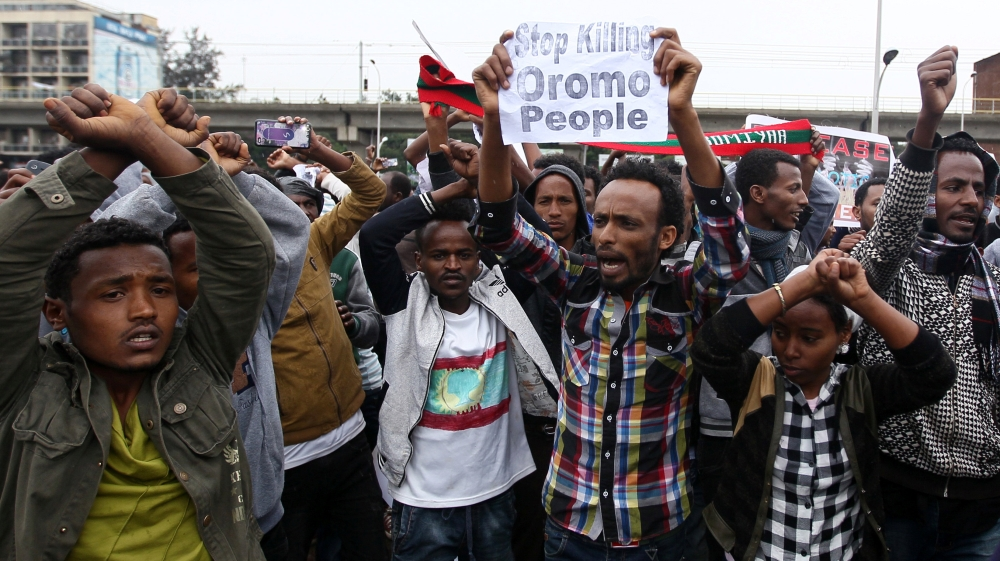 Ethiopians protest incarceration of opposition politicians