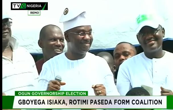 Ogun 2019: Gboyega Isiaka, Paseda form coalition