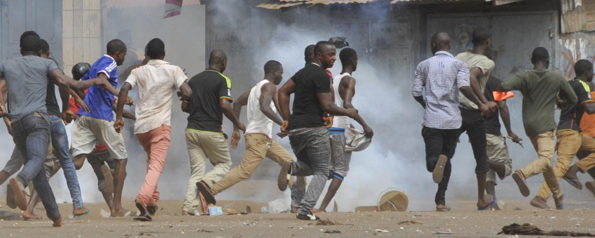 Guinea's opposition protesters clash with Police