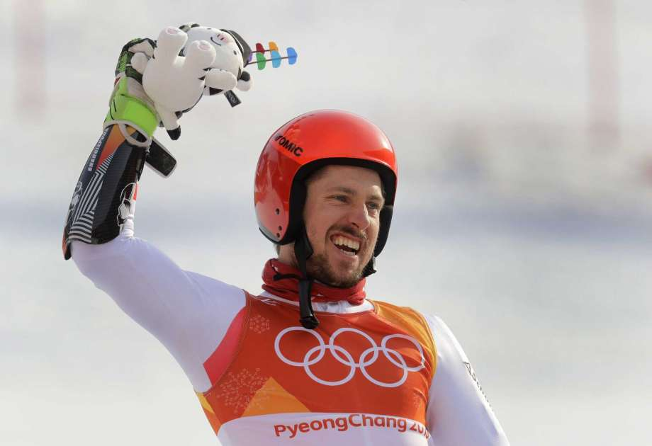 Winter Olympics : Marcel Hirscher wins giant slalom for second gold