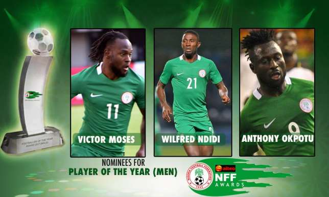 NFF Award : Victor Moses, Oshola top nominees list