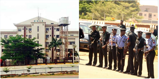 Protest: Armed Policemen take over NHIS headquarters