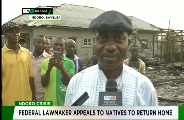 Ndoro crisis: Federal lawmaker appeals to natives to return home