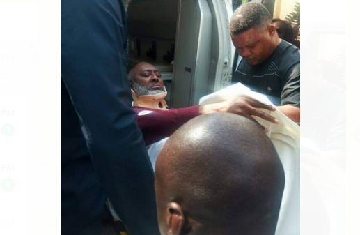 Corruption trial : Olisah Metuh brought to court in ambulance