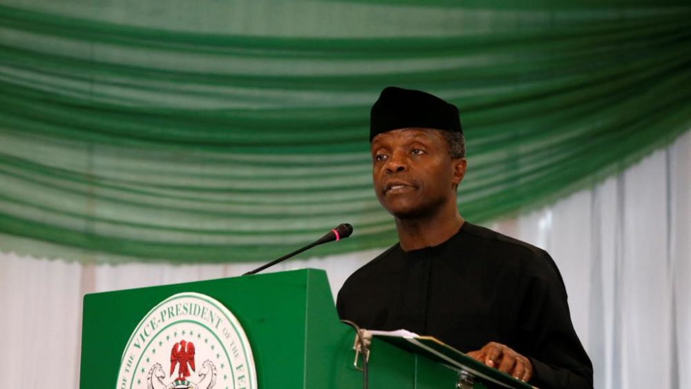 Osinbajo optimistic NEDI will improve live of Nigerians